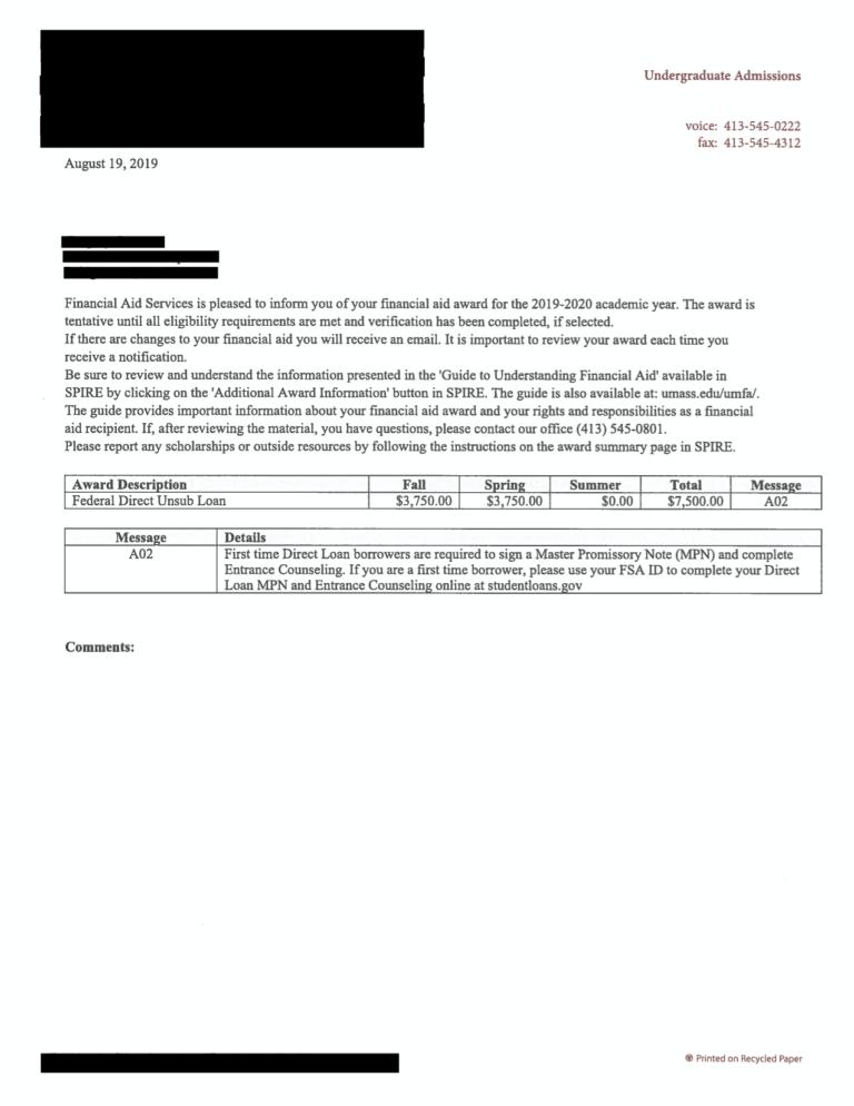 award letter 5