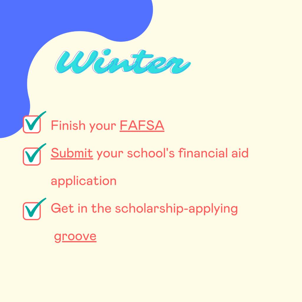 Winter financial aid deadlines